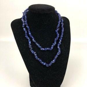 Dark Blue Lapis Lazuli Gemstone Beads 32'' Strand